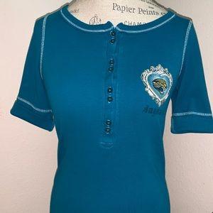 Jacksonville Jaguar's ladies short sleeve shirt.